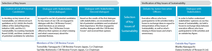 Process of Determining Key Issues of Sustainability