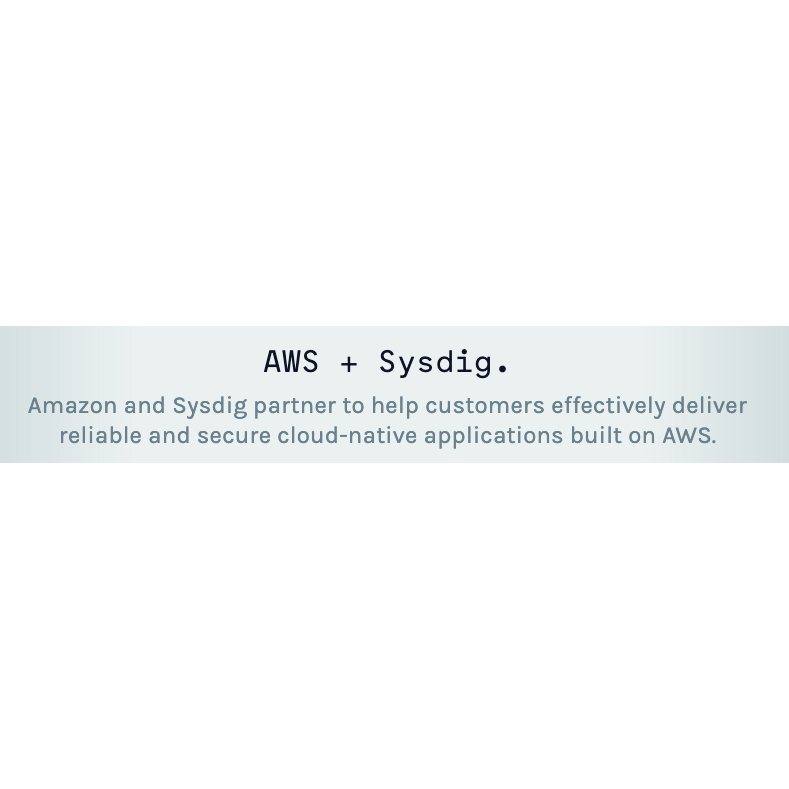 Sysdig Secure と AWS Security Hubの統合